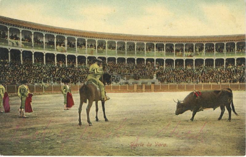Surte de Vara Spain Espana Bullfighters Matadors Bullfighting Postcard D21