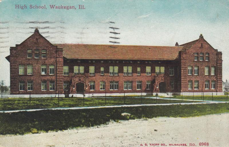 WAUKEGAN , Illinois , PU-1912 ;  High School
