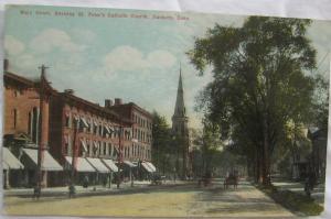 Main Street St Peters Catholic Church Danbury CT 1911
