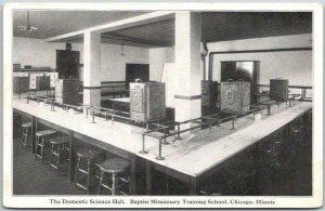 Chicago IL Postcard BAPTIST MISSIONARY TRAINING SCHOOL Domestic Science Hall