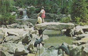 Waterfall, Japanese Gardens, BIRMINGHAM, Alabama, 40-60´s