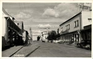 finland suomi, TORNIO TORNEÅ, Street Scene (1950s) RPPC