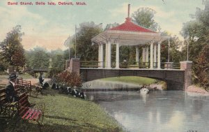 DETROIT, Michigan, 1900-1910s; Band Stand, Belle Isle