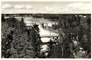 finland suomi, IMATRA, Иматра, The Dam at the Vuoksi River (1950s) RPPC