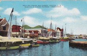 CURACAO , N.W.I. , 30-40s; Fruit & Fishing Boat Market