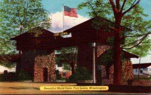 Washington Fort Lewis Beautiful Main Gate 1952