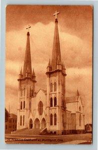 Portland OR-Oregon, St Francis Cathedral, Vintage c1911 Postcard