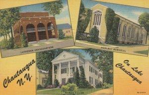 CHAUTAUQUA, NY, 30-40s; Lutheran Headquarters, Hurlbut Memorial & Woman's Club