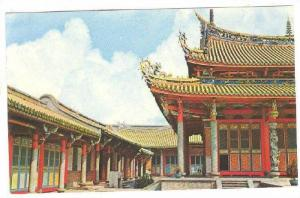 Confucious Temple in Taipei, Great Hall, side buildings with verandas, China,...