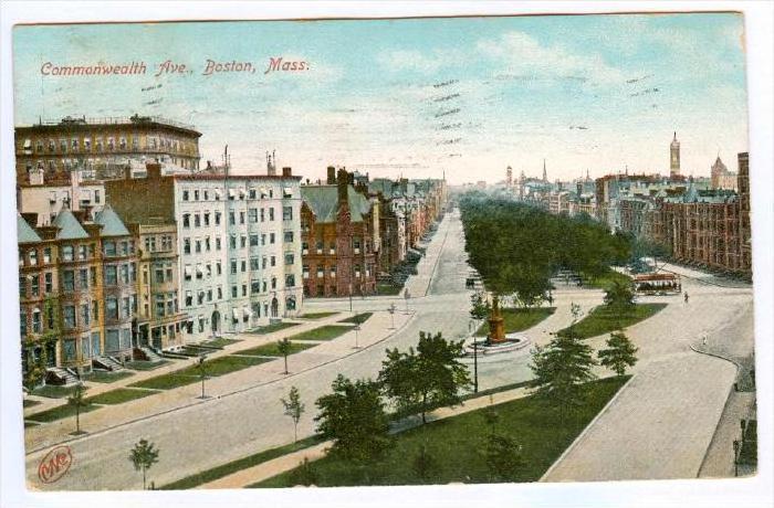 Commonwealth Avenue, Boston, Massachusetts, PU-1907
