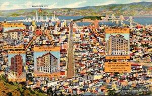 California San Francisco View From Central Y M C A Curteich
