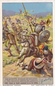 Liebig Vintage Trade Card S1334 Don Quixote II 1936 No 4 Don Quixotte delivre...