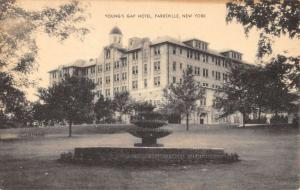 Parksville New York Youngs Gap Hotel Fountain Antique Postcard K71210