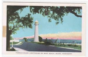 Biloxi Lighthouse West Beach Biloxi Mississippi postcard