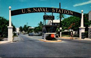 Florida Key West United States Naval Station Entrance