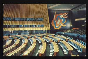 United Nations Postcard, General Assembly Hall, New York/NY
