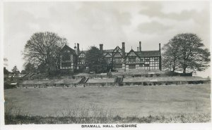 Postcard England Cheshire Bramall Hall country house timber frame architecture