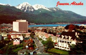 Alaska Juneau Downtown View Showing New Federal Building