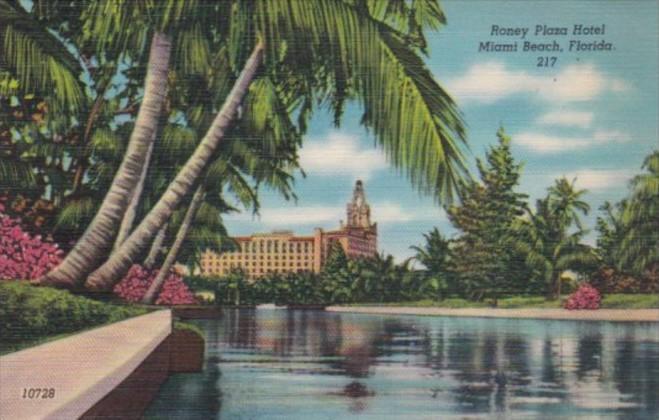 Florida Miami Beach Roney Plaza Hotel