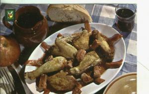 Postal: Platos tipicos: pollo al chilindron