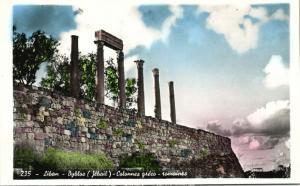 lebanon, BYBLOS GEBAL, Greco Roman Columns (1950s) RPPC