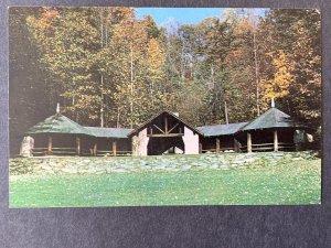 Picnic Shelter Hawk's Nest State Park Ansted WVA Chrome Postcard H1173085507