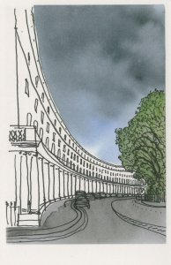 John Nash Park Crescent South Regents Park London Painting Postcard