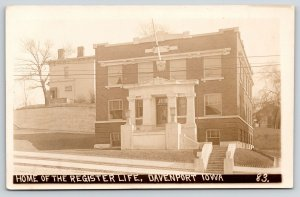 Davenport Iowa~The Register Life~Now Precision Dental~Brady Street~1915 RPPC