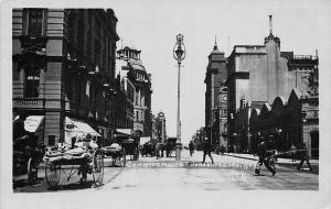 South Africa Johannesburg, Commissioner Street, carts real photo