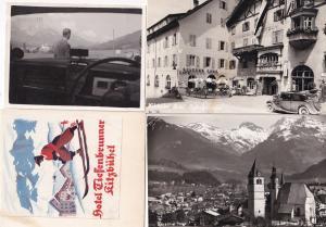 Kitzbuhel Tiefenbrunner Hotel 4x Real Photo Postcard & Ephemera
