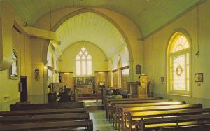 Interior, St. Thomas' Anglican Church, Land of the Polar bear express,  Ontar...