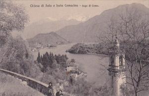 Italy Lago di Como Chiesa di Sala e Isola Comacina