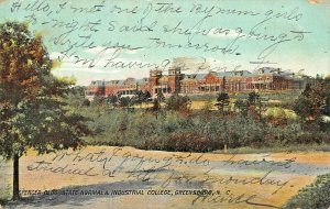 GREENSBORO NC~SPENCER BUILDING~STATE NORMAL & INDUSTRIAL COLLEGE~1907 POSTCARD