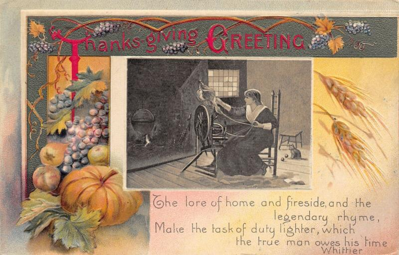 Thanksgiving~Lovely Lady @ Spinning Wheel~Fireside Duty~Pumpkin~Wheat~Winsch