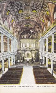 NEW ORLEANS, Louisiana, 1900-1910's; Interior Of St. Louis Cathedral