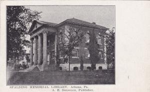 ATHENS, Pennsylvania,  1900-1910's;  Spalding Memorial Library