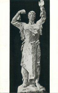 Romania Descatusare bronze statue sculpture by Boris Caragea Postcard