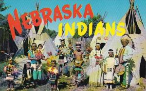 Nebraska Ogallala Chief Whitecalf and Sioux Indians In Colorful Native Costumes
