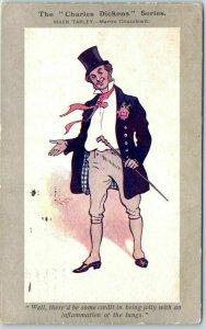CHARLES DICKENS SERIES Postcard MARK TAPLEY - Martin Cuzzlewit Faulkner 1905