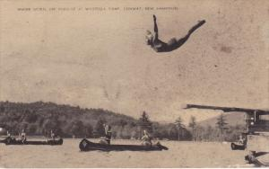 Water Sports Are Popular At Waukeela Camp, Canooing, , CONWAY, New Hamsphire,...