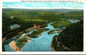 Pennsylvania Delaware Water Gap View Of The Delaware River From Winona Cliff ...