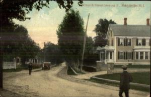 Harrisville RI Church Street c1910 Postcard