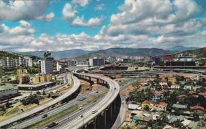 Aerial View, Traffic, CARACAS, Venezuela, 40-60´