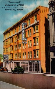 Maine Portland The Graymore Hotel 1954