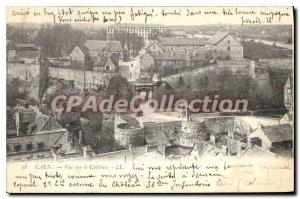 Old Postcard Caen overlooking the castle