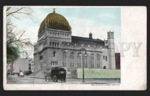 117226 USA NEW YORK Jewish synagogue Vintage postcard