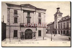 Old Postcard Theater and the city of Valencia & # 39hotel