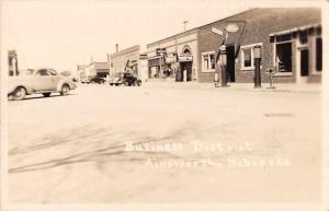 Ainsworth Nebraska Business District Real Photo Antique Postcard J59021