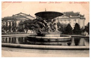 Germany  Dresden-Neustadt Brunnen Stille Wasser  Kgl. Schaupielhaus