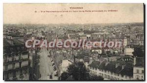 Postcard Old Vincennes Panoramic Taken From Castle
